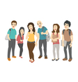 Group of smiling teenage students eps10 vector image