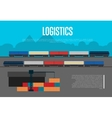 Logistics banner with freight train vector image