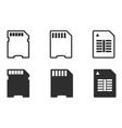 Memory card icon set vector image