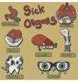 sick organs set vector image
