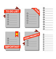 to do list element graphic vector image