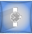 Watchclock Flat modern web button on a flat vector image