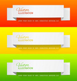 White sheets of paper on a color background vector image
