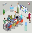 Isometric Conference Room Business Presentation vector image