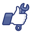 Thumbs Up icon with wrench vector image