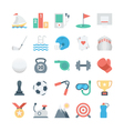 Sports and Games Colored Icons 2 vector image