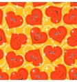 Seamless Pattern Valentine Hearts Smiley vector image vector image
