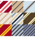 set of patterns in a diagonal strip vector image vector image