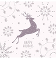 deer silhouette christmas vector image
