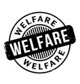 welfare rubber stamp vector image