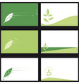 business card ecology vector image vector image