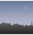 Silhouettes roofs at dawn vector image