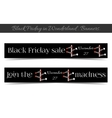 Direction arrows Black friday banners vector image