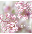 background with sakura and magnolia vector image