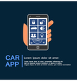 Car security system phone app vector image