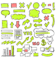 Hand Drawn Business Doodles Set vector image