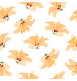 hibiscus bright yellow tropical flowers pattern vector image
