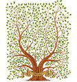 Old vintage tree vector image