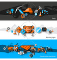 Road Repair Banners vector image