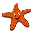 Starfish black and white vector image