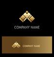 triangle gold arrow logo vector image