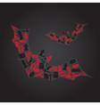 vampire icons in dark bat shape eps10 vector image
