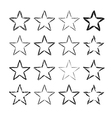 Star icons grunge set vector image vector image