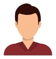 Male profile avatar with brown hair vector image