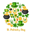 Saint Patricks Day greeting card Flag Ireland vector image