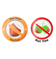 nut free vector image