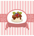 Card design with cupcake vector image vector image