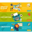 Flat concept banners Graphic Design Copywriting vector image