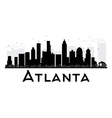 Atlanta City skyline black and white silhouette vector image