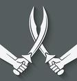 crossed arabian sabers vector image