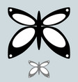 black and grey butterfly in the simple style vector image