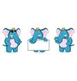 Blue Elephant Mascot vector image