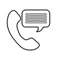 customer service phone bubble speech talking vector image