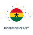 independence day of ghana patriotic banner vector image