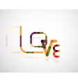 Love word font concept vector image