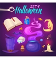 Spooky Halloween objects vector image