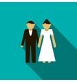 Wedding couple icon flat style vector image