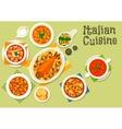 Italian cuisine healthy dinner icon vector image
