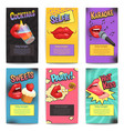 lips party mini posters vector image vector image