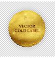 Premium quality shiny golden label luxury badg vector image