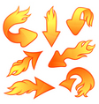 fire arrows vector image vector image