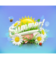 Summer time for a picnic nature outdoor recreation vector image