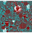 Dark abstract floral seamless pattern vector image