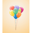 Festive balloons in the bundle vector image
