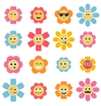 flower smiley faces vector image