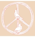 International Day of Peace Pigeons vector image